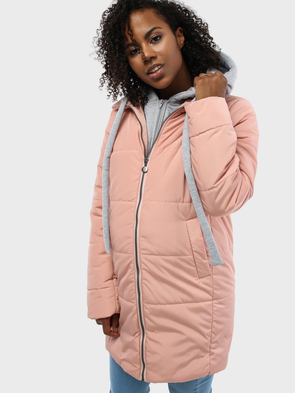 c70ee6c38438 Куртка демисезонная 2в1 I love mum Бриошь пудра для беременных