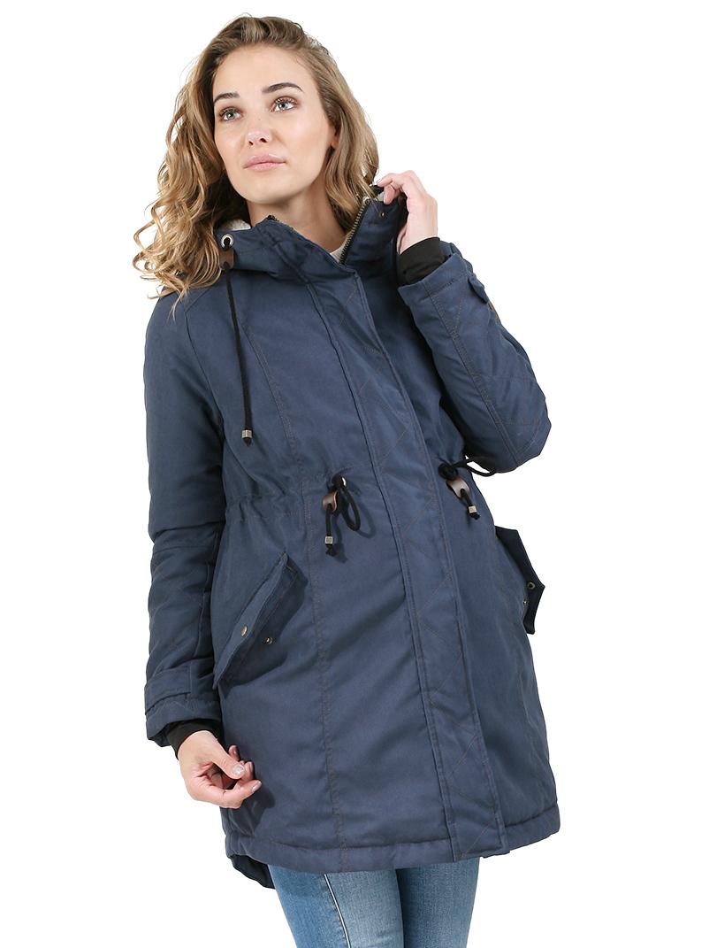 de855bf3d9d1 Куртка-парка демисезонная 2в1 I love mum Чикаго синяя для беременных