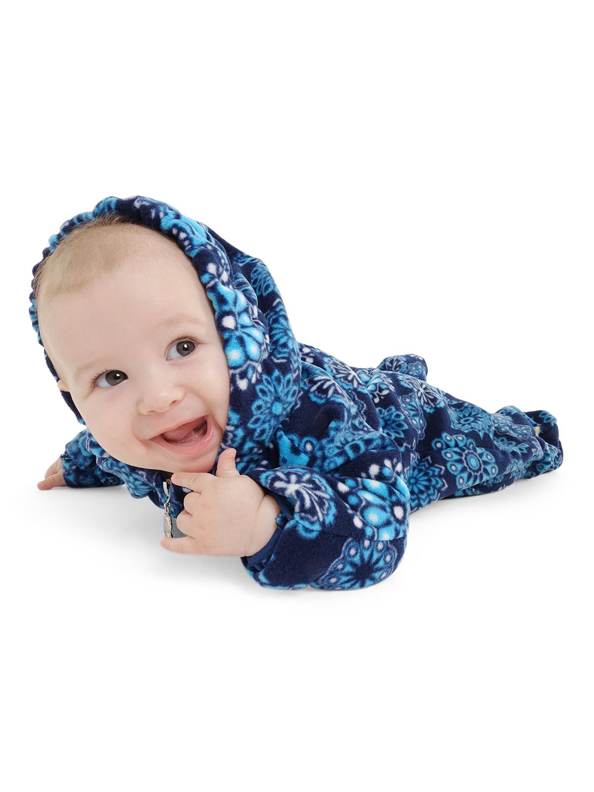 4520f6a9d122 Комбинезон I love mum флисовый Классический снежинки на синем от магазина  Kidster