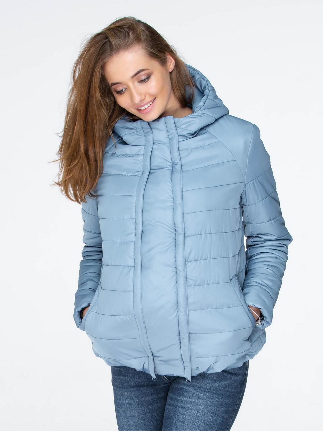 bc4d8c0b8c81 Куртка демисезонная 2в1 Yula mama Marais серо-голубая для беременных