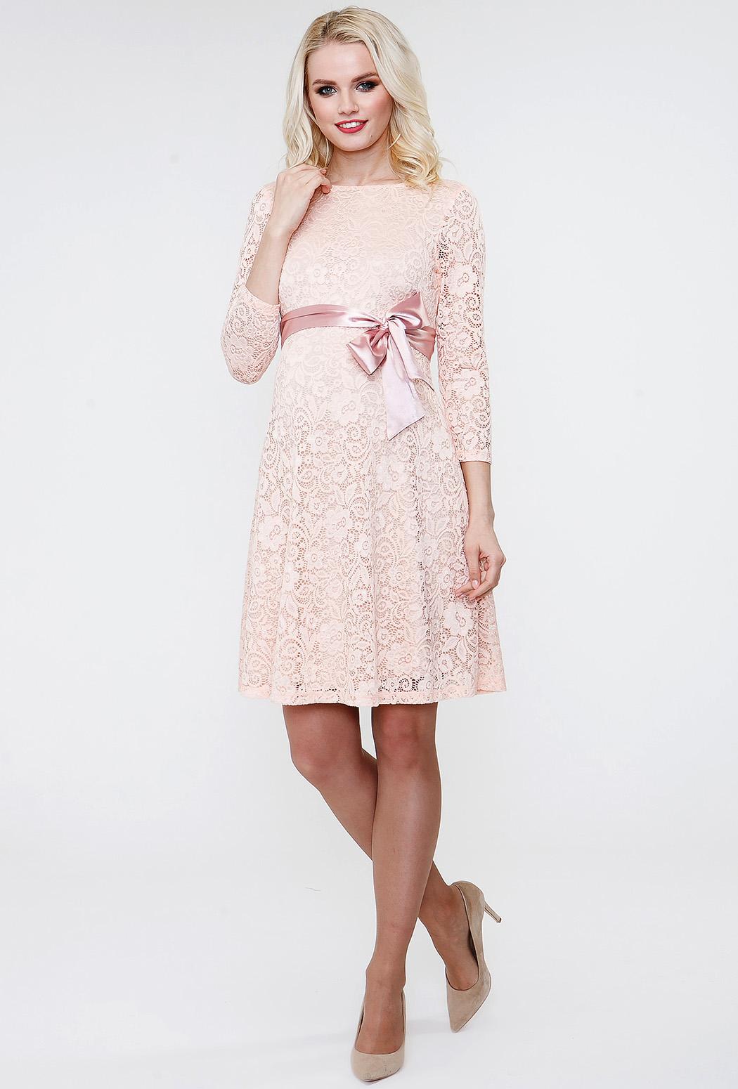 dc4bbe3cea3f728 Фото Платье Tutta Mama гипюр персик для беременных от магазина Kidster