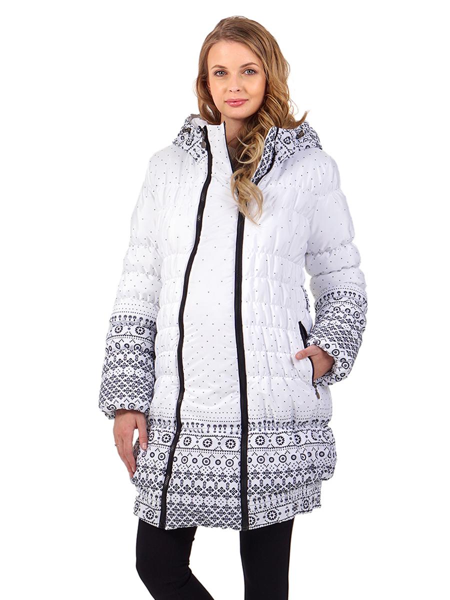 13e40c629898 Фото Куртка зимняя 2в1 I love mum Юта узоры на белом для беременных от  магазина Kidster