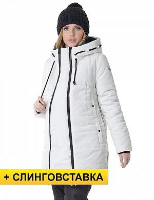 Куртка зимняя 3в1 I love mum Сиэтл молочная для беременных и слингоношения  от магазина Kidster 3779ea68b5b