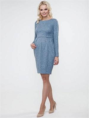 Платье Tutta Mama прямое голубой меланж для беременных и кормящих от магазина  Kidster c31424d76c0