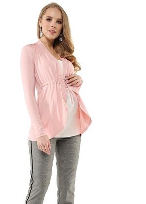 new Блуза I love mum Лира пудровая белая для беременных и кормящих от магазина  Kidster c90faffce4d