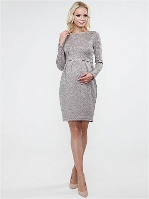 Платье Tutta Mama прямое персик для беременных и кормящих от магазина  Kidster 1a4cf3b2d24