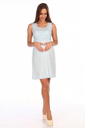 Сорочка Мамаландия С-205 голубая для беременных и кормящих от магазина  Kidster 1674b8e2fac